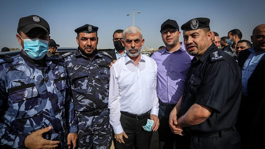 Yahya Sinwar, the leader of Hamas in the Gaza Strip, in Gaza City, May 31, 2021. Photo by Abed Rahim Khatib/Flash90.