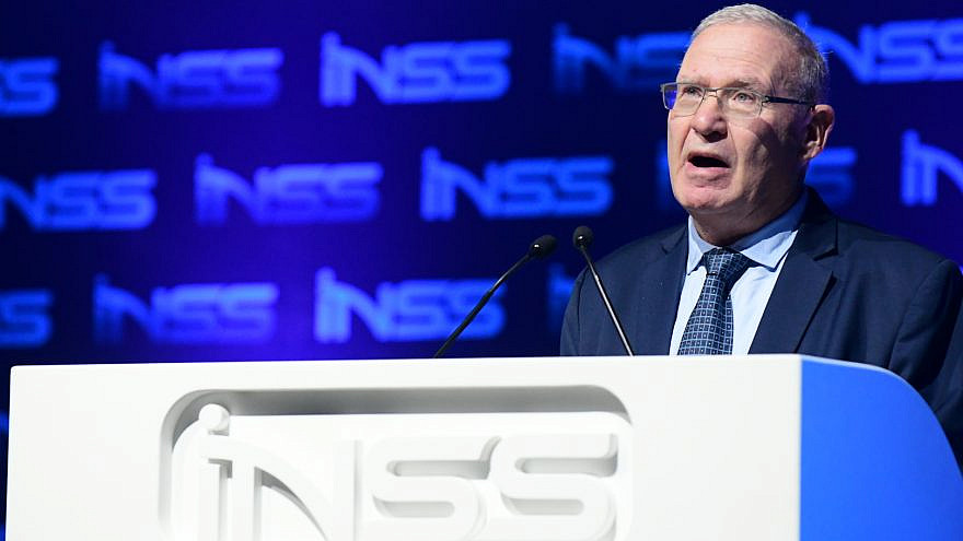 Executive director of the National Security Studies (INSS) Amos Yadlin speaks at the Annual International Conference of the Institute for National Security Studies in Tel Aviv on Jan. 29, 2020. Photo by Tomer Neuberg/Flash90.