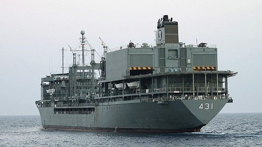 The Iranian navy ship IRIS Kharg, which caught fire and sank in the Gulf of Oman on June 2, 2021. Credit: Wikimedia Commons/Fars News Agency/Hossein Zohrevand.