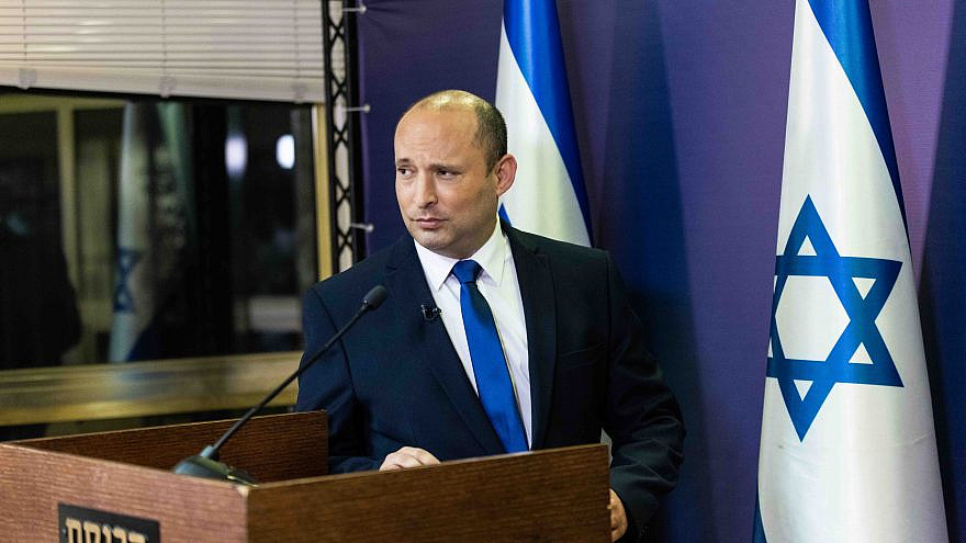 Yamina Party head Naftali Bennett gives a press conference at the Knesset in Jerusalem on May 30, 2021. Photo by Yonatan Sindel/Flash90.