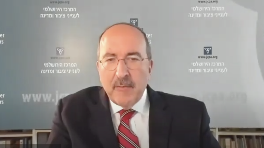 Dore Gold, president of the Jerusalem Center for Public Affairs (JCPA) and Israel's former ambassador to the United Nations. Source: Screenshot.