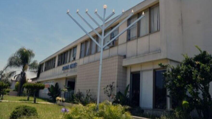The menorah at Chabad at San Diego State University. Source: Screenshot.