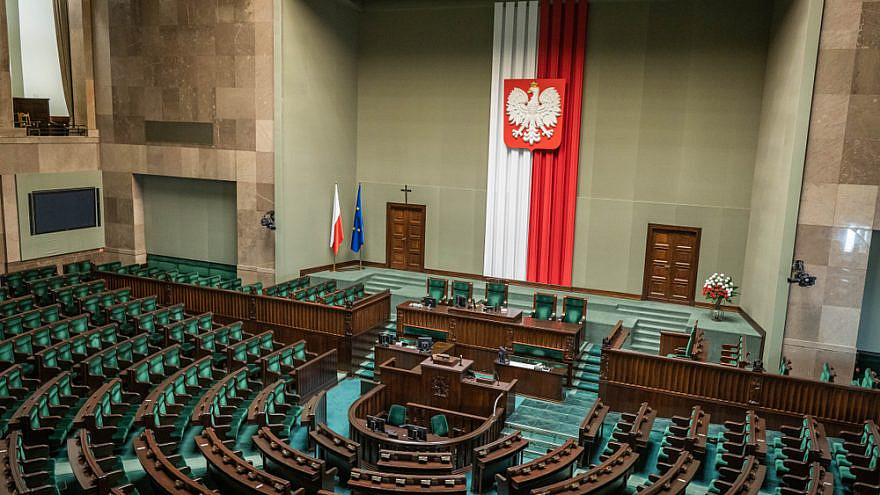 The Lower House of the Polish parliament called Sejm. Credit: Spandow Stock Photo/Shutterstock.