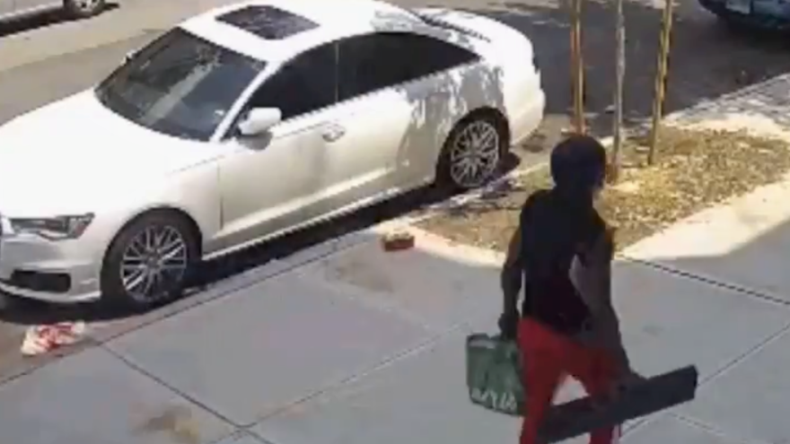 An African-American man is wanted for attacking a Chassidic Jew with a piece of broken furniture in Brooklyn, N.Y., on July 5, 2021. Source: Twitter Screenshot.