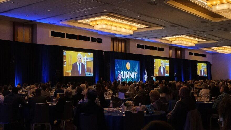 Israeli Foreign Minister Yair Lapid addressing the 2021 CUFI Summit in Dallas, Texas. Credit: Dmitriy Shapiro.