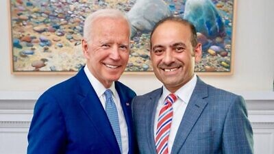 U.S. President Joe Biden and Dilawar Syed. Source: Dilawar Syed/Twitter.