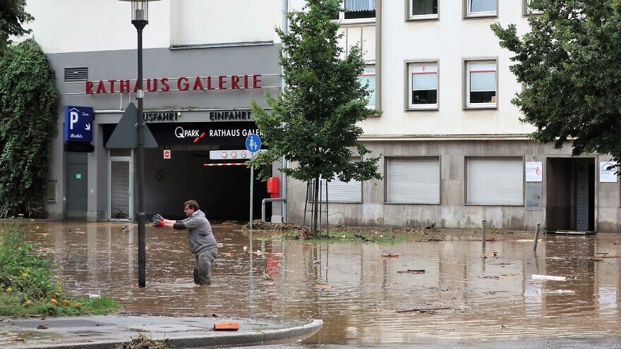 Heavy summer rains and flooding have devastated parts of Germany, July 15, 2021. Credit: Klaus Bärwinkel via Wikimedia Commons.