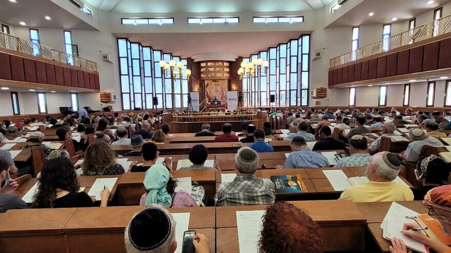 For the 30th year, Herzog College hosted its annual Bible conference, the Yemei Iyun B'Tanakh, with lectures online and in-person, like this one in Alon Shvut, July 2021. Credit: Courtesy.