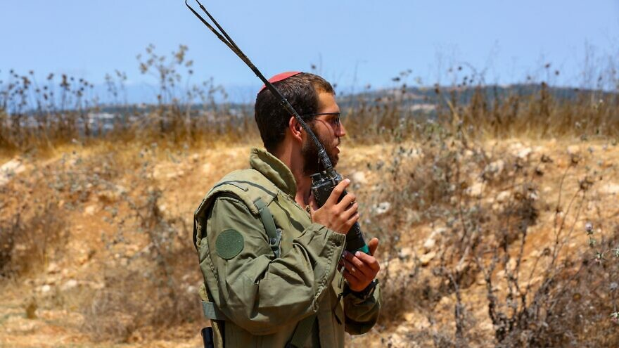 An Israeli soldier at the border between Israel and Lebanon, July 20, 2021. Photo by David Cohen/Flash90.