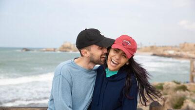 A couple on an Honeymoon Israel trip.