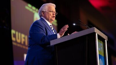 Pastor John Hagee speaking at the 2021 CUFI conference. Credit: CUFI.