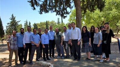Delegates of the Religious Zionists of America (RZA)-Mizrachi rabbinic and communal leadership mission to Israel, June-July 2021. Credit: Courtesy.