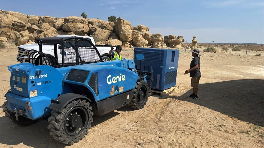 The Israeli company Watergen has implemented a pilot project, installing a GEN-M water generator at Rocky Ridge Gas & Market (RRGM) in the Hard Rock community of the Navajo Nation. Credit: Courtesy.