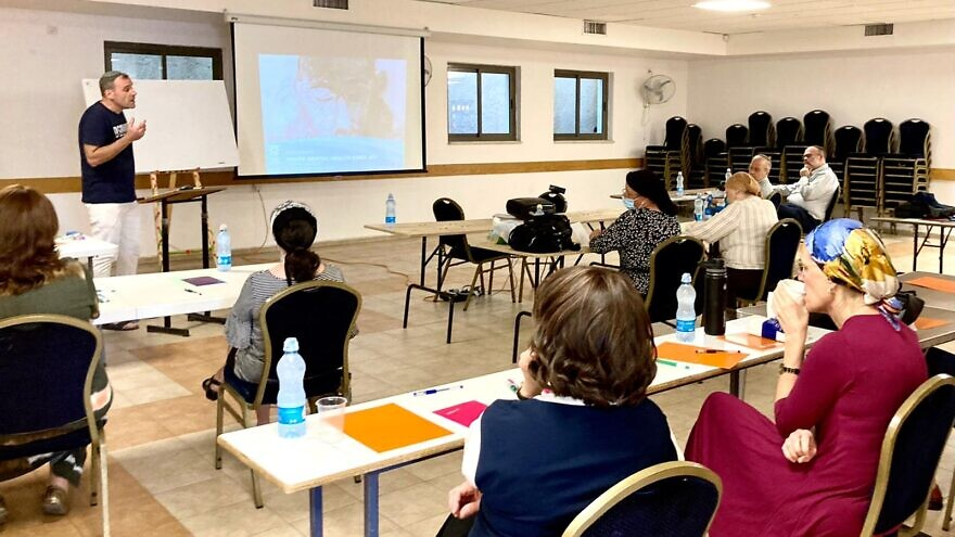 Rabbi Shalom Hammer teaches the MHFA Youth Course. Credit: MHFA Israel.