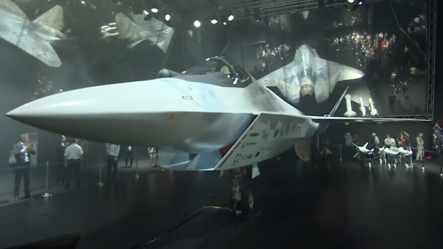 Russia's Checkmate fighter jet on display at the MAKS international air exhibition. Source: Screenshot.