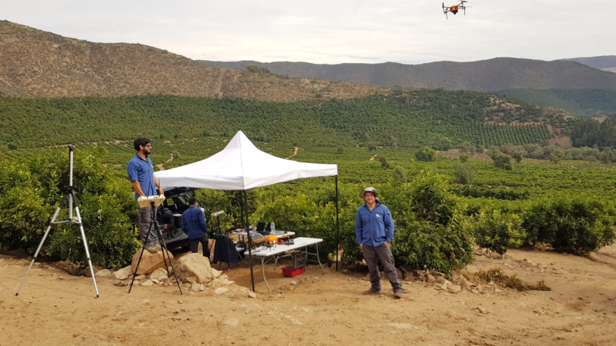 With teams on the ground, SeeTree starts by sending in an agronomist to create an initial assessment and establish a protocol for a farmer's trees. The trees are then tagged and monitored utilizing military-grade drones, satellite imagery and team members in jeeps with mounted cameras. Credit: SeeTree.