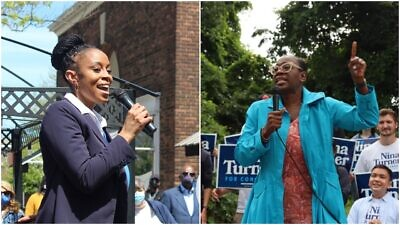 Cuyahoga County Council member Shontel Brown (left) and former State Sen. Nina Turner are squaring off in the Democratic Parrty primary on Aug. 3, 2021, to fill Ohio's 11th District congressional seat. Source: Facebook.