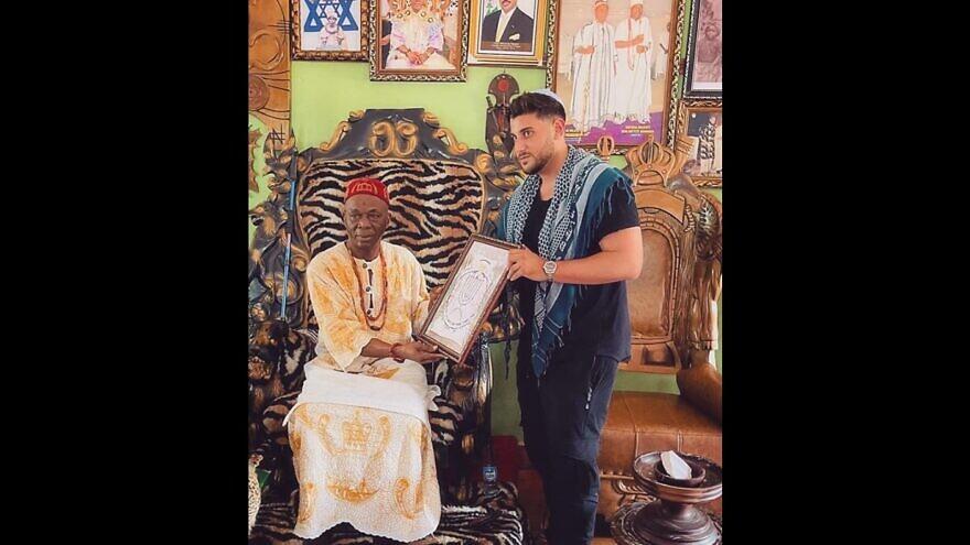 Israeli filmmaker and activist Rudy Rochman in Nigeria. Source: Facebook/Rudy Rochman.