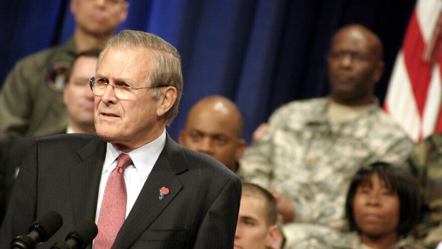 Donald Rumsfeld. Credit: Jason and Bonnie Grower/Shutterstock.