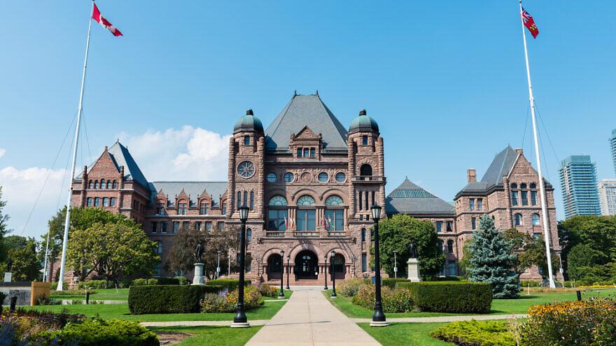 Legislative Assembly of Ontario at Queens Park, Toronto, Canada. Credit: Andres Garcia Martin/Shutterstock.