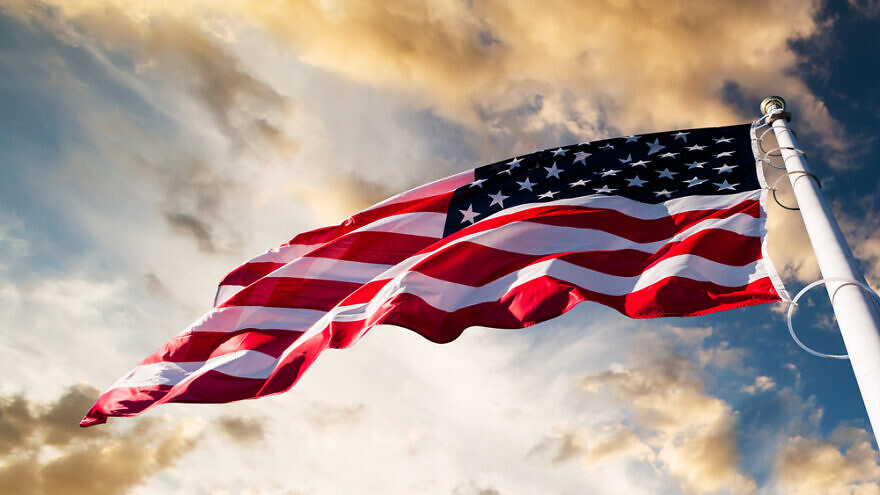 An American flag. Credit: In Green/Shutterstock.