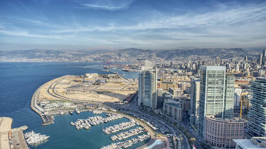 Aerial view of Beirut. Credit: Diplomedia/Shutterstock.