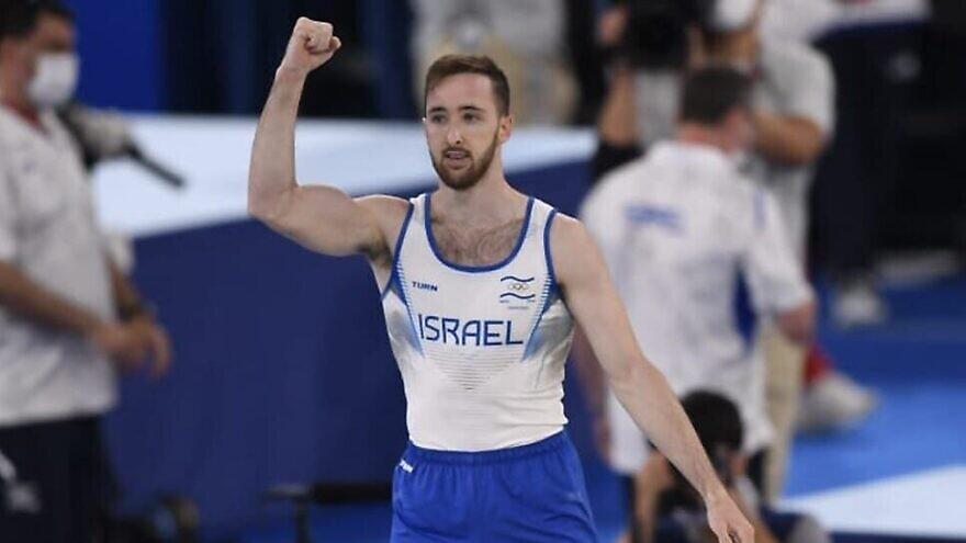 Israeli artistic gymnast and gold medalist Artem Dolgopyat, Aug. 1, 2021. Source: Israel Olympic Committee via Facebook.