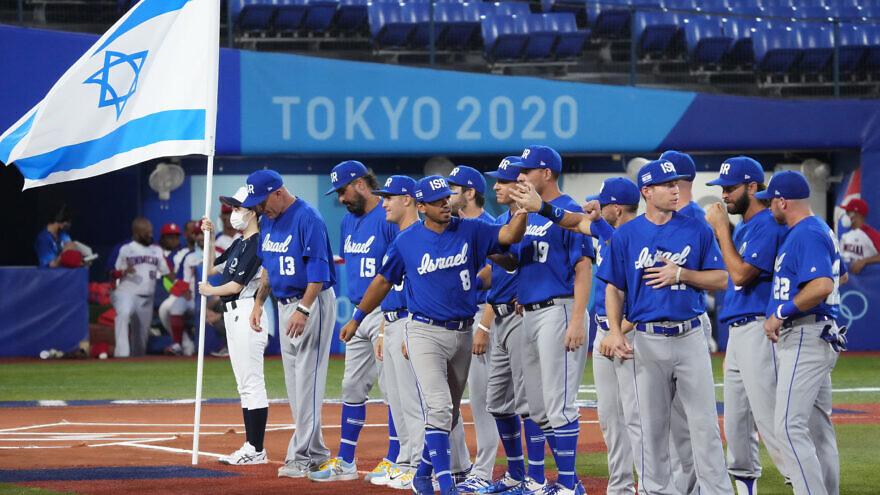 Team Israel baseball at the Tokyo Olympics. Source: Team Israel Baseball/Facebook.