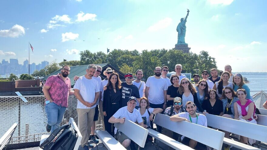 The Ruderman Program for American Jewish Studies group in New York City