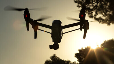 Illustration of a drone, Aug. 17, 2020. Photo by Moshe Shai/Flash90.
