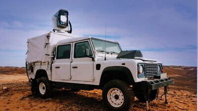 The Drone Dome system mounted on a truck. A deomnstration held by Rafael in February 2020 saw laser inteceptions of multiple drones in the desert achieve 100 percent success rate. Credit: Rafael Defense.