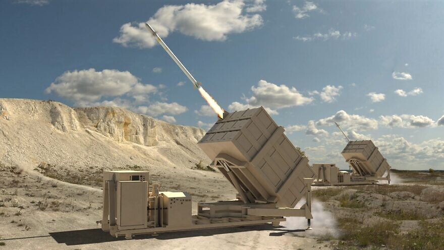 Artist's rendering of a counter-drone, cruise missile system to be developed by the American defense company Dynetics. Credit: Dynetics.