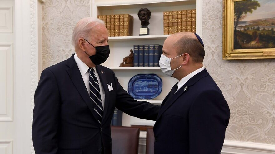 U.S. President Joe Biden with Israeli Prime Minister Naftali Bennett in the Oval Office at the White House, on Aug. 27, 2021. Source: Embassy of Israel/Twitter.