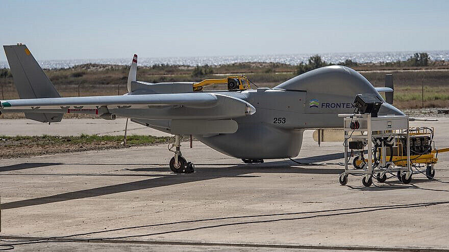 The Heron long-endurance drone is being used to help locate and combat forest fires. Credit: Israeli Aerospace Industries.