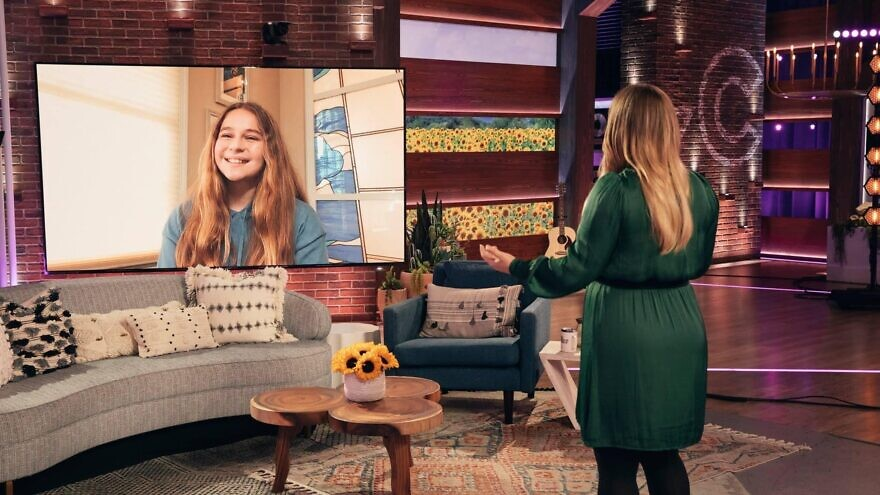 """Preteen Adi Topolosky on the """" The Kelly Clarkson Show."""" Credit: Courtesy."""
