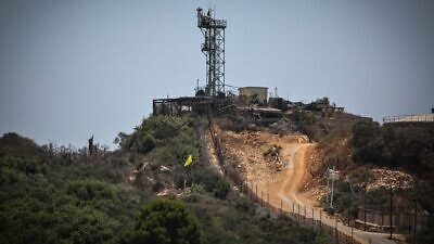 An Israel Defense Forces military outpost on the border between Israel and Lebanon, July 20, 2021. Photo by David Cohen/Flash90.