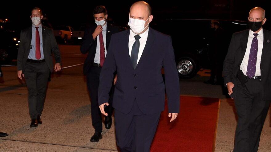 Israeli Prime Minister Naftali Bennett leaving Washington, D.C. on Aug. 29, 2021. Photo by Avi Ohayon/GPO.