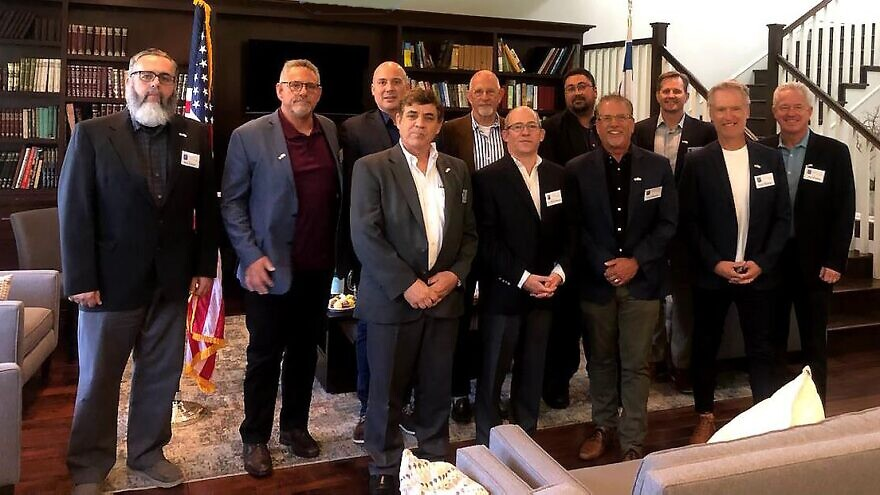 Israel's Consul General to Los Angeles Hillel Newman meets with Christian pastors from across Southern California. Credit: Israeli Consulate of Los Angeles.