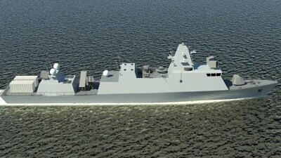 The preliminary design of the Reshef Class vessel. Credit: Courtesy of Israel Shipyards.