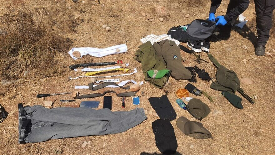 """The Israel Defense FOrces discovered a Palestinian """"wearing a full IDF uniform,"""" apprehended adjacent to the community of Sinjil, northeast of Ramallah, in the West Bank on Aug. 16, 2021. Credit: IDF."""