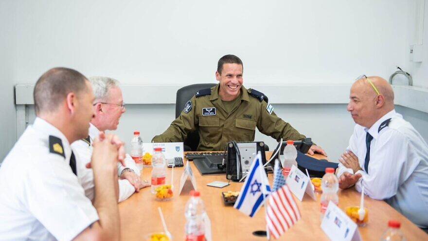 Representatives from the Israeli and U.S. Air Forces during a meeting in July 2021. Credit: IDF Spokesperson's Unit.