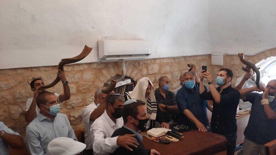 "A special ""Selichot"" ceremony at the Old Synagogue in Kfar HaShiloach, the Yemenite Village in Jerusalem's Silwan neighborhood. Credit: Kfar HaShiloah Public Council."