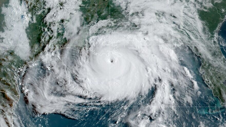 A satelitte image of Hurricane Ida. Source: Screenshot/NOAA.