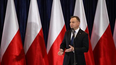 Polish President Andrzej Duda. Credit:  Grabowski Foto/Shutterstock.