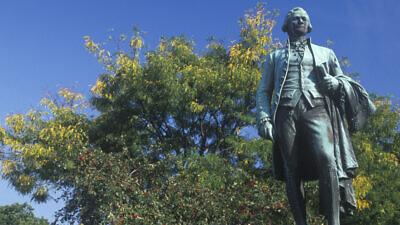 A statue of Alexander Hamilton in Paterson, N.J. Credit:  Joseph Sohm/Shutterstock.