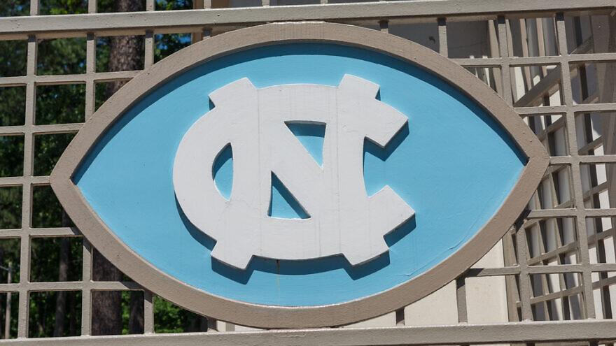 Logo plate at the University of North Carolina. Credit: Wayfarerlife/Shutterstock.
