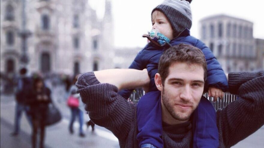 Eitan Biran with his late father, Amit Biran. Source: Facebook.