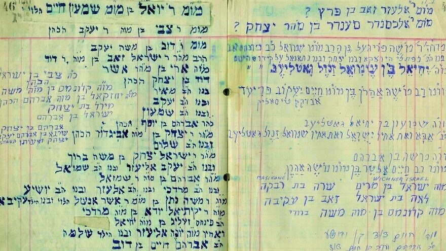 Burial Society Records, Community of Ujhel (Satoraljaujhely), Hungary, 1942-1946. Courtesy: The National Library of Israel.