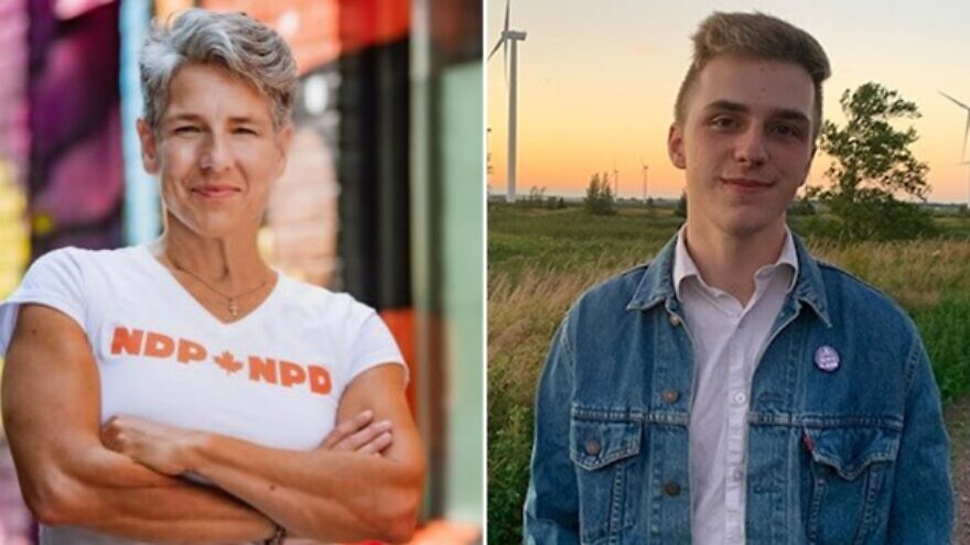 Sidney Coles of Toronto and Dan Osborne of Nova Scotia, members of the New Democratic Party, announced their resignations on Sept. 15, 2021. Source: Twitter.