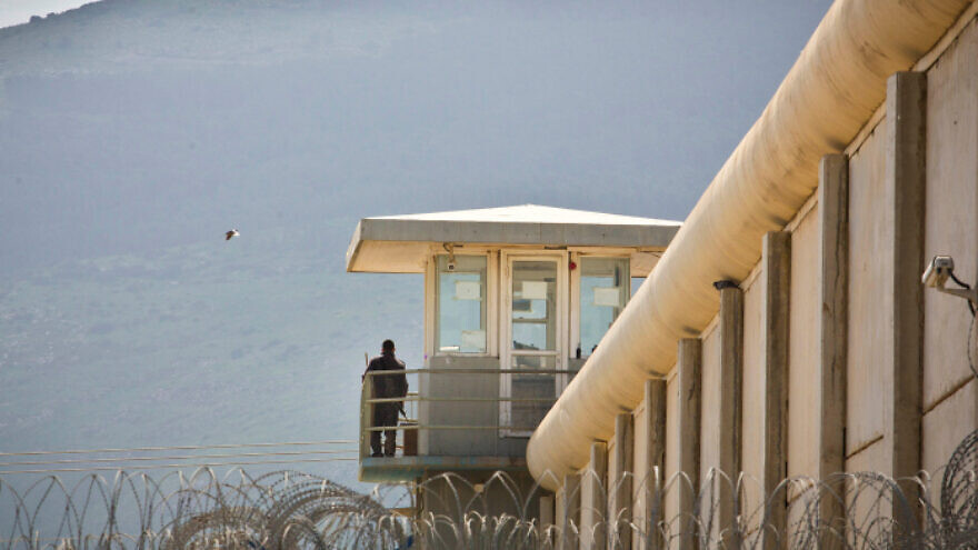 A watchtower at Gilboa Prison in northern Israel on Feb. 28, 2013. Photo by Moshe Shai/Flash90.